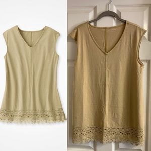 Coldwater Creek Grace Lace Tank, small NWOT